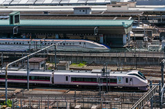Shinkansen and it is conventional lines express!