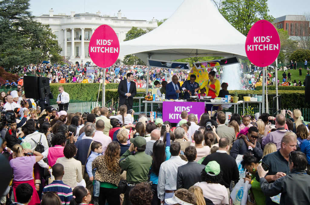 White House Egg Roll with Michelle Obama. Photo: USDA, CC