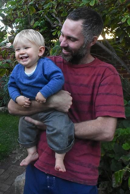 Luke and Jasper laughing on 27 May 2016
