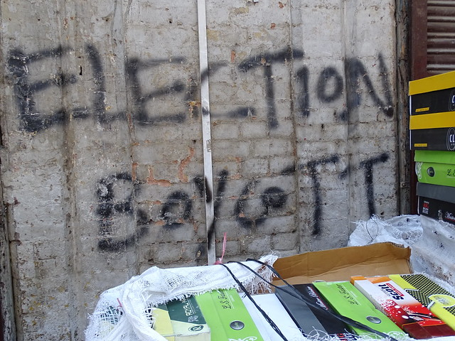 Election Boycott Graffito - Old City - Srinagar - Jammu & Kashmir - India
