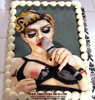 "Madonna Nipple Flash MDNA Tour Birthday Cake by Tony ""The Pastryarch"" Albanese 