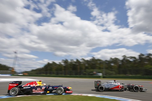 Button and Vettel battling it out for 2nd | by AGPCF1
