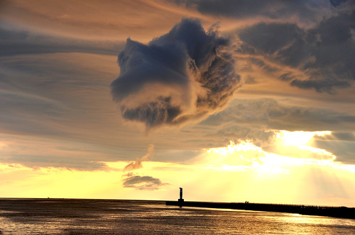Unusual Cloud over Portage Lake Channel | by Katy Silberger