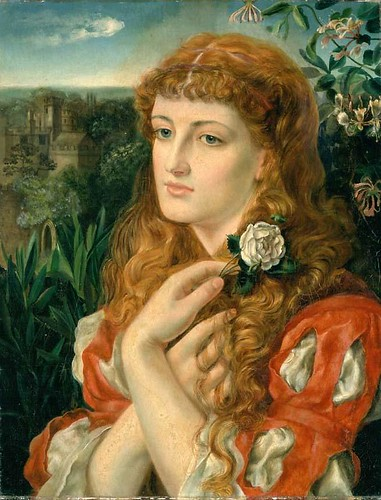 A Lady Holding a Rose by Emma Sandys 1870-73 | by Birmingham Museum and Art Gallery