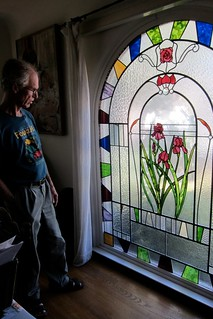 Vince Taylor with stained glass 2012
