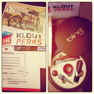 Wow, Thanks!! @Bing for the @Klout #perk - really nice :) | by susan.beebe