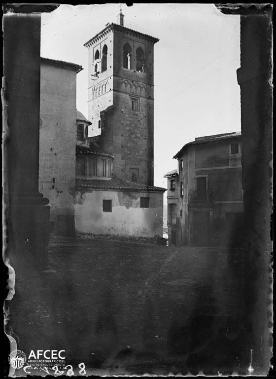 Torre de Santa Leocadia en Toledo a comienzos del siglo XX. Autor Desconocido   © Centre Excursionista de Catalunya