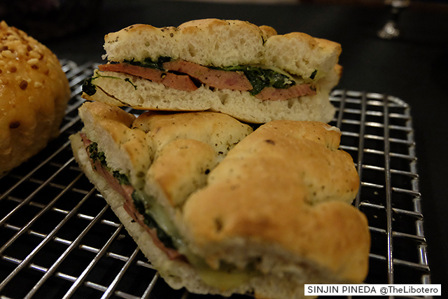 Starbucks Philippines Sausage and Spinach on Focaccia Bread