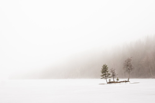 "Nøklevann (""Great lake"") in Fog 