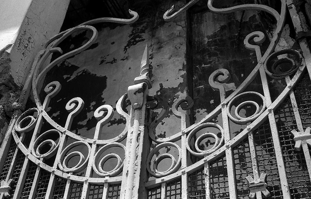 A devilish gate...