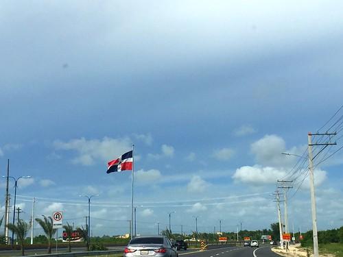 Dominican Flag near Boca Chica