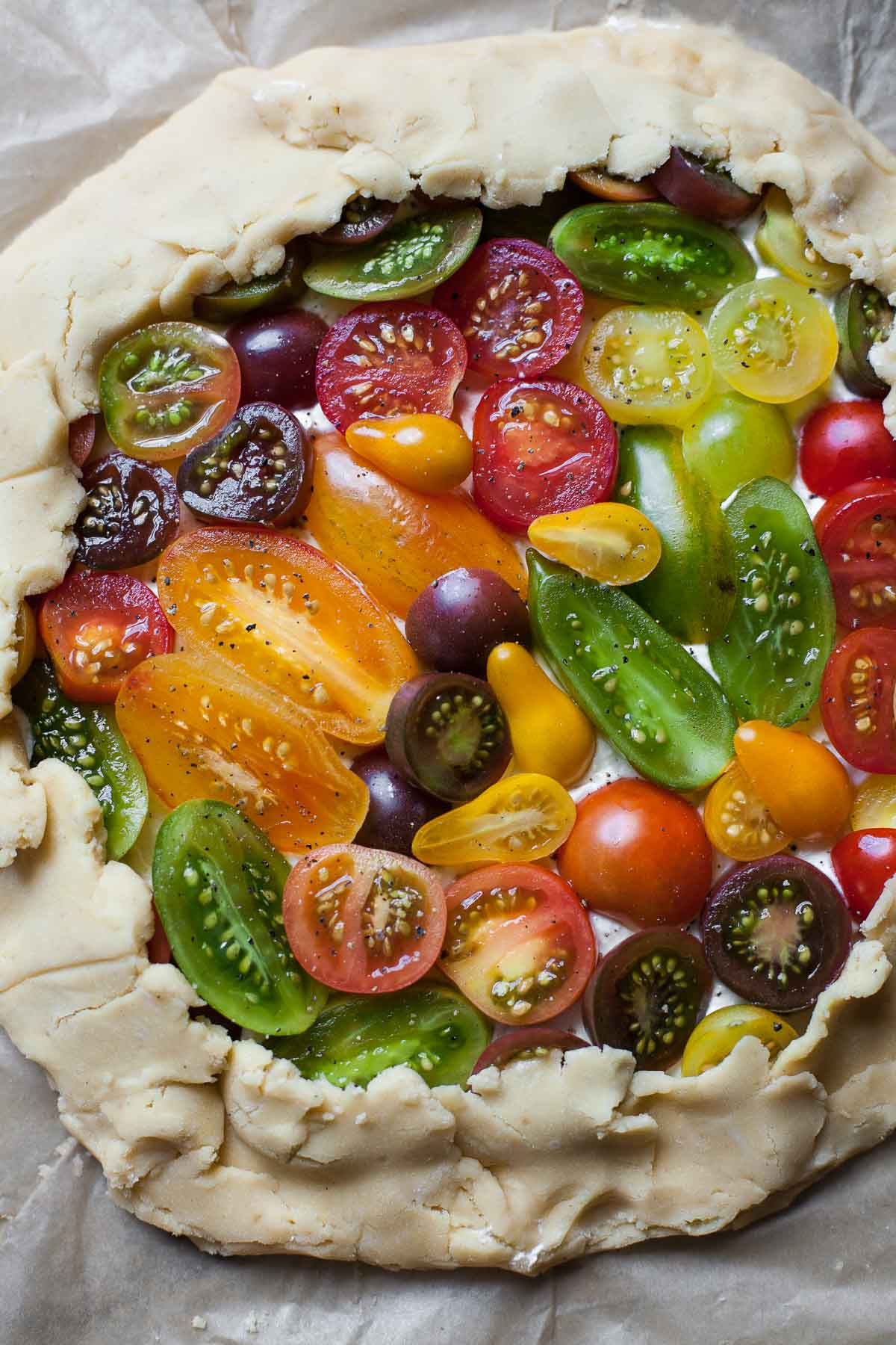 Heirloom Tomato Galette - A Calculated Whisk