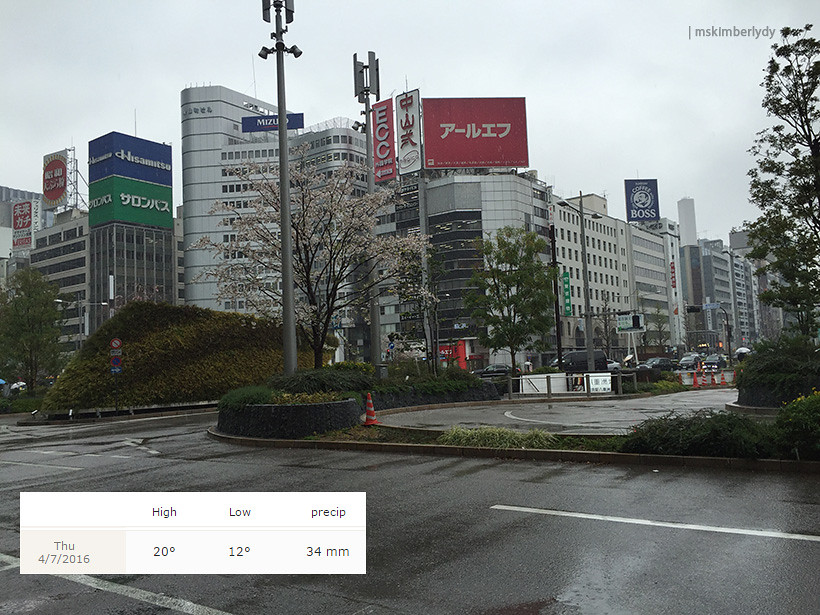 Japan 2016: Day 4 Tokyo Station weather