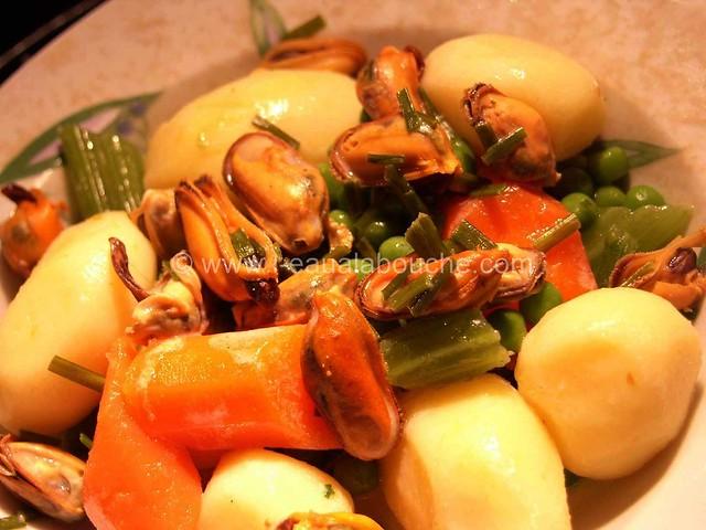Saumon Poêlé & Moules à la Crème Petits Légumes © Ana Luthi Tous droits réservés 14