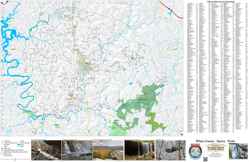 Road Map - White County, Tennessee