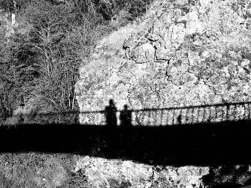 Two Women on a Bridge