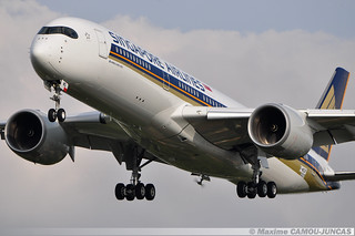 F-WZGF Airbus A350 Singapore Airlines