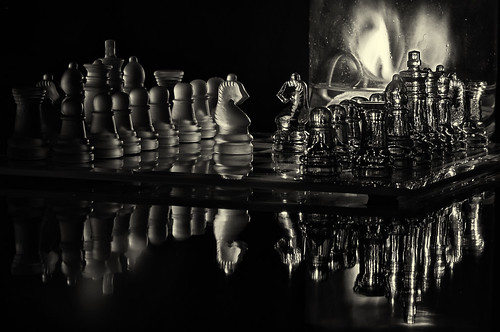 chess by candlelight b&w | by loco's photos