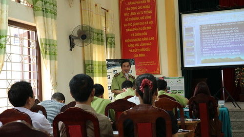 The presentation given to bile farmers