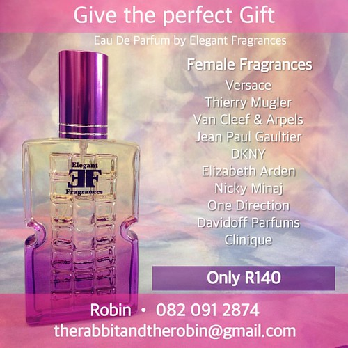 Spoil Yourself with Elegant Fragrances Versace, Thierry Mugler, Jean Paul Gaultier, DKNY, Dunhill, Lacoste, Aramis and Many More... For Only R140 Contact your Sales Representative Now to avoid disappointment. ? ? ? ? ? ? ? ? ? ? ? ? ? Robin - 082 0