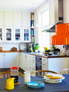 Anna Danielsson {white and colorful scandinavian modern kitchen} | by recent settlers
