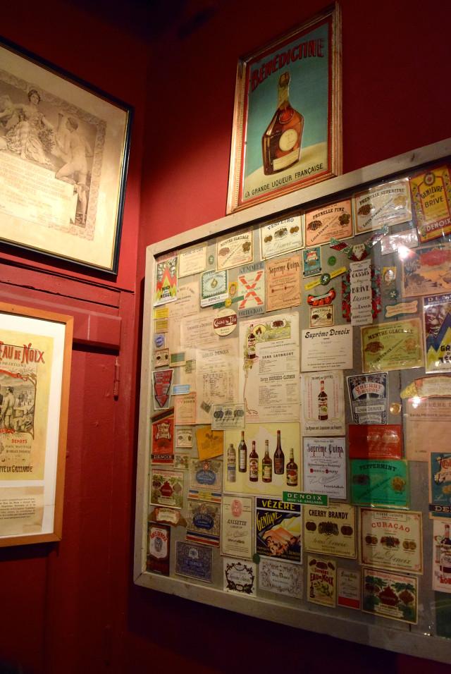 Vintage Labels at the Denoix Distillery, Brive   www.rachelphipps.com @rachelphipps
