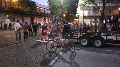 Cops setting up barricades for a night on 6th street | by joemurphy