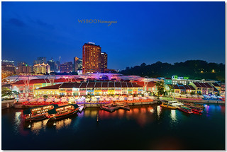 Blue Hour @ Clarke Quay Singapore River_0696 | by wsboon