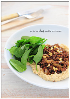 spiced beef with hummus | by jules:stonesoup