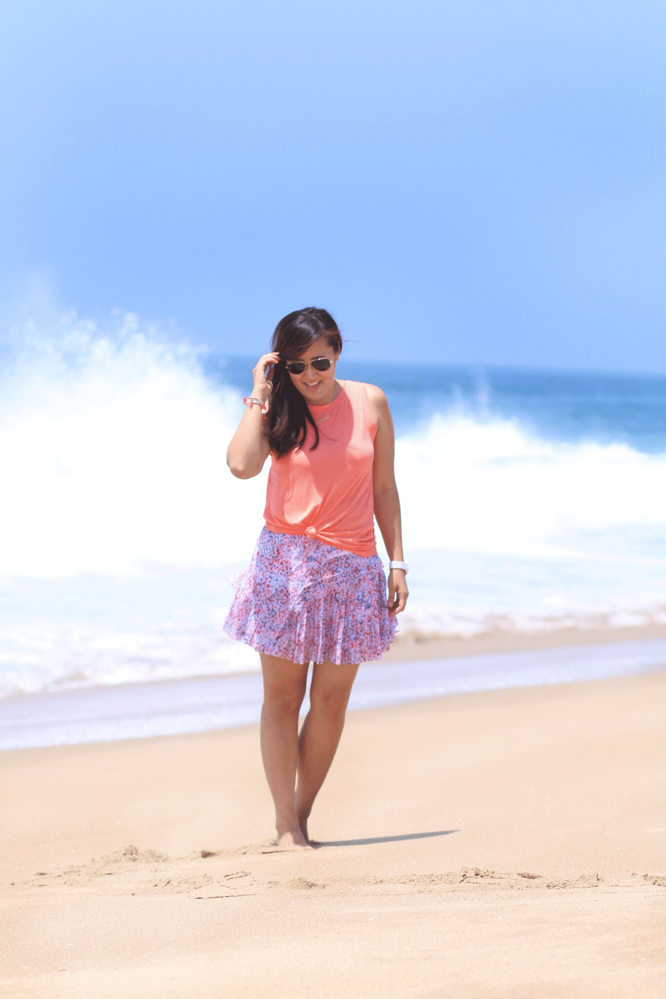 simplyxclassic, miriam gin, banana republic, summer bold colors, fashion blogger, orange county