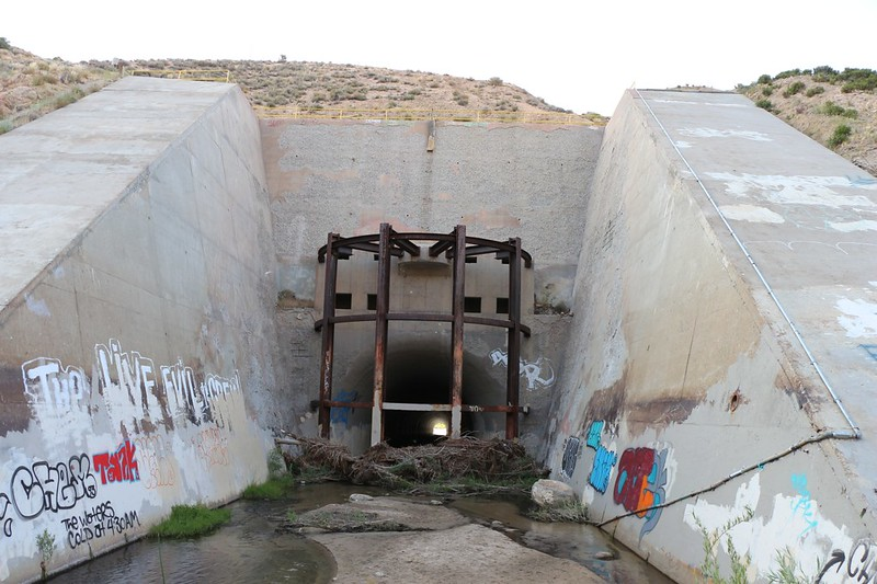 Where Deep Creek goes through the Mojave Forks Dam