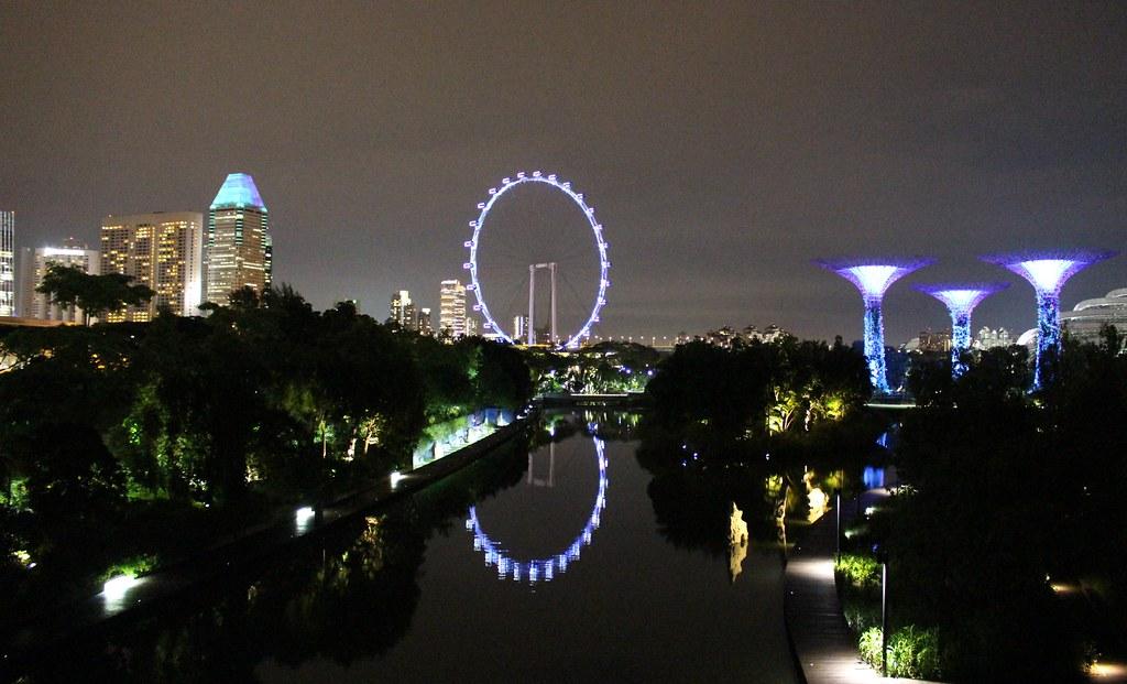 Night skyline, Singapore