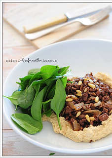 spiced beef with hummus2 | by jules:stonesoup