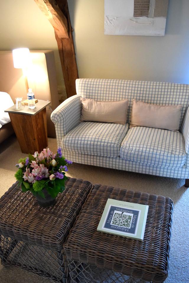 Bedroom Sofa at Manoir de Malagorse | www.rachelphipps.com @rachelphipps