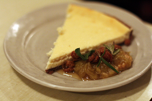 ricotta tart with rhubarb compote | by David Lebovitz