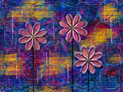 Flowers digital painting