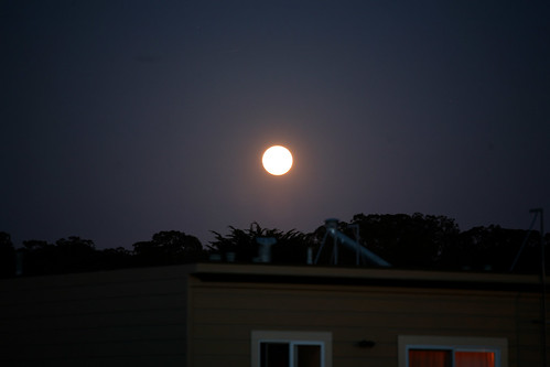 Supermoon rising San Francisco | by Dennis Goedegebuure