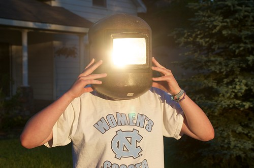 Neighbor Girl Viewing Venus Eclipse | by lomeranger