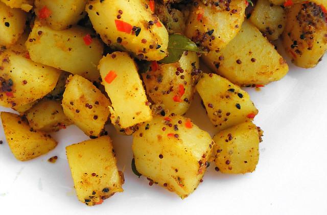 Garam Masala aardappels