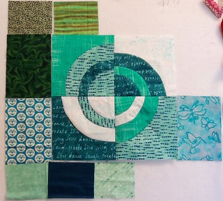June Bullseye Blocks for my graduated sampler