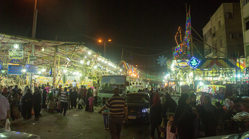 Outside El-Sayida Zeinab's Ramadan Market