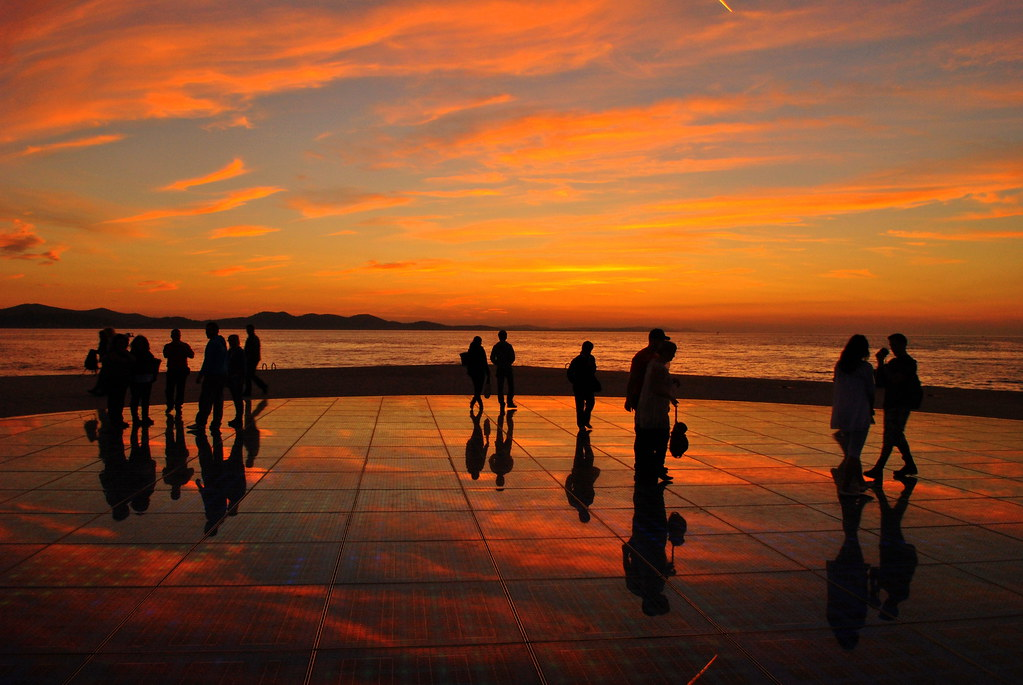 "Sunset over ""Hello to the Sun"", Zadar, Croatia"