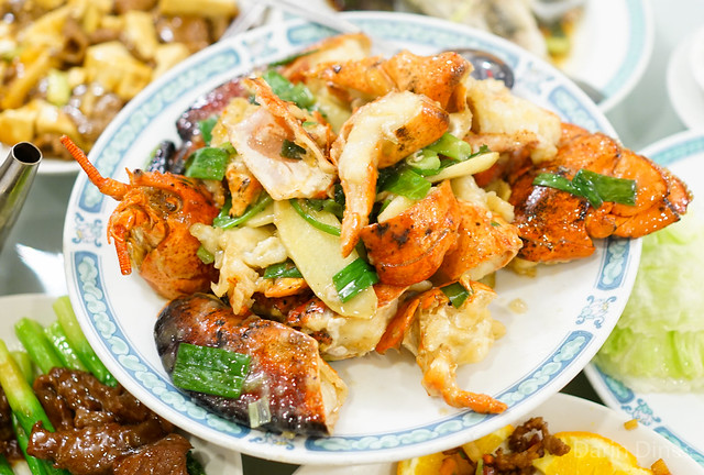 Sauteed Lobster with Ginger and Scallion