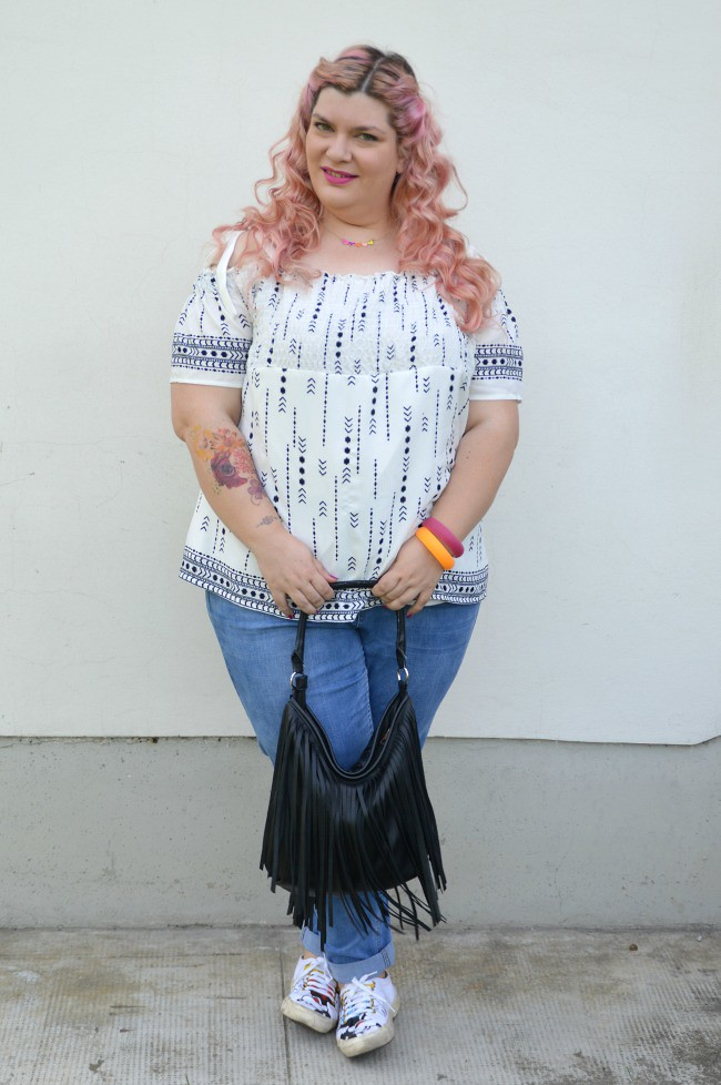 Outfit No comfort zone, bianco e jeans (4)