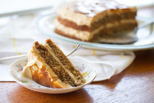 Chai Banana Cake with Brown Sugar Buttercream
