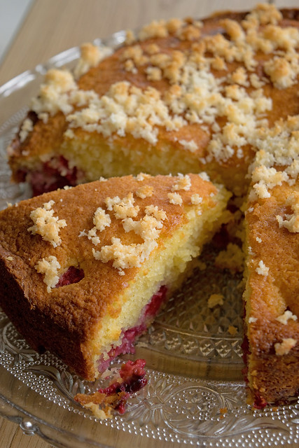 Gâteau aux framboises et noix de coco4