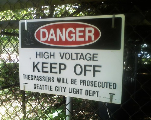 High Voltage sign, Green Lake Park | by Benjamin Lukoff