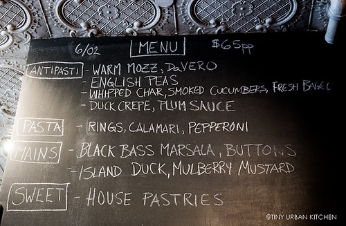 Torrisi daily blackboard menu | by tinyurbankitchen