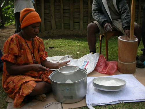 Sieving the cassava flour | by Oxfam NZ