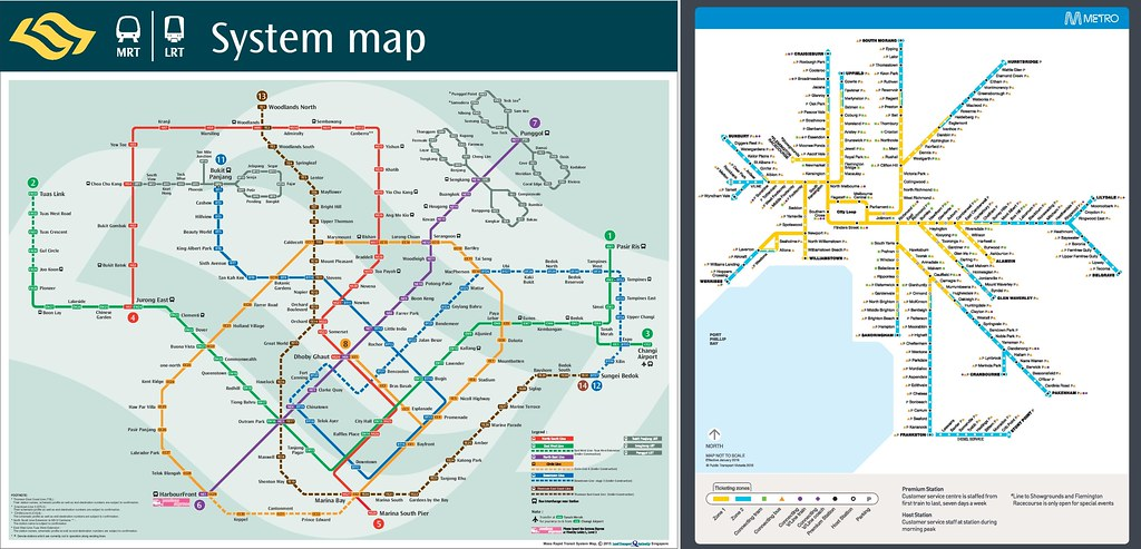 Singapore MRT vs Melbourne Metro